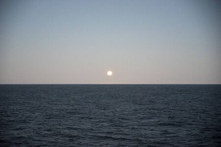 sunset on the sea Archivio Fotografico