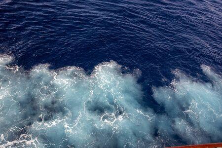 wave breaking in the sea