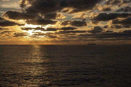 sunset over the sea Archivio Fotografico