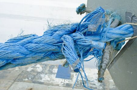 rope tied on a boat