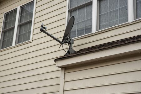 Satellite dish on a roof top