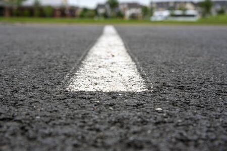 asphalt road with lines Archivio Fotografico - 148807779