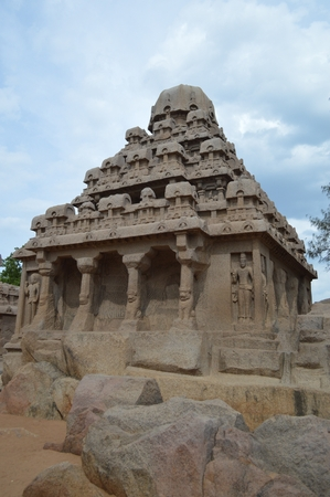 Pancha Rathas,Mahabalipuram temples, Tamil Nadu India