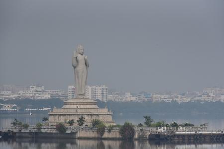 Buddha statue, Hyderabad Stock Photo