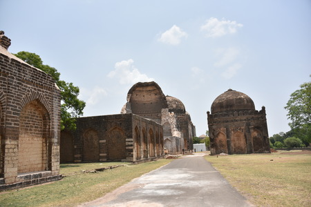 Bahmani tombs ruins, Bidar, Karnataka, India Stock Photo