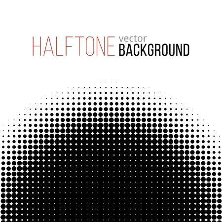 gradation art: black and white halftone pattern. Vector background