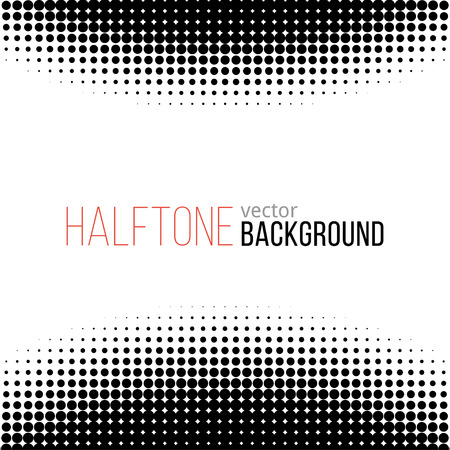 black and white halftone pattern. Vector background