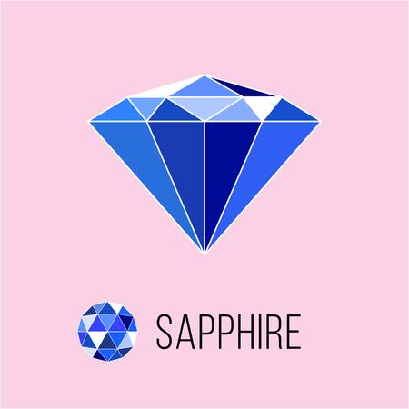 Sapphire icona appartamento con vista dall'alto. simbolo di lusso ricco.