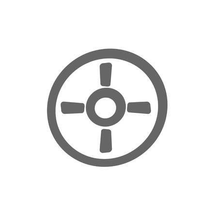 intentions: simple aiming icon. Targeting frame symbol