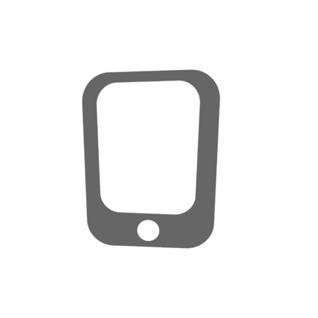 mobile phone icon: simple flat mobile phone icon