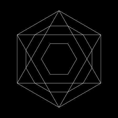 Harmonic illustration sacred geometry Plato. The ratio of the hexagon