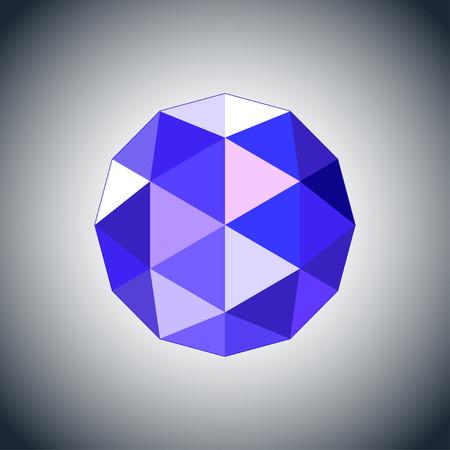 sapphire gemstone: sapphire gem jewel icon. Stock vector illustration