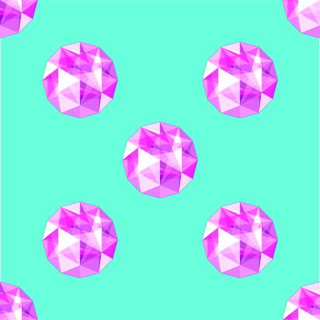 amethyst: seamless pattern of realistic purple amethyst gems. Design vector illustration.