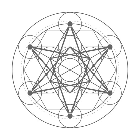 Metatrons Cube. Sacred geometry illustration