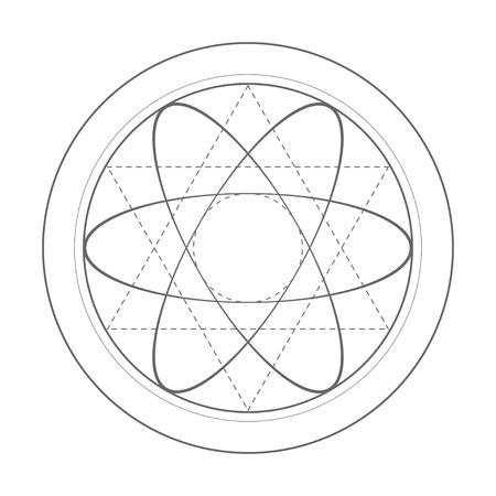 Sacred geometry symbol illustration. Vector energy star Illustration
