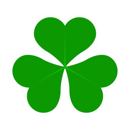 Green Lucky Four Leaf Irish Clover for St. Patricks Day vector illustration Illustration