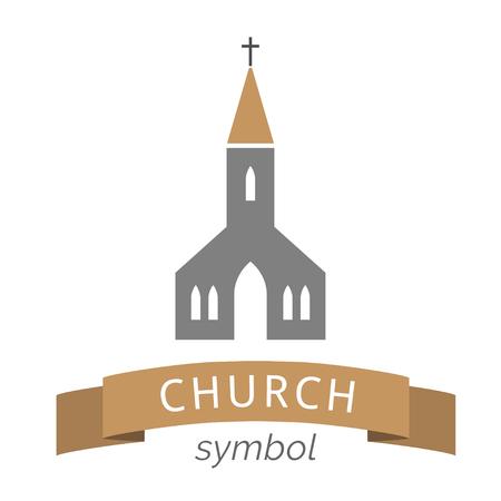 Church Icon Isolated religion building symbol Illustration