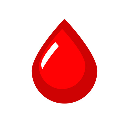 Blood Vector Icon. Red flat drop symbol