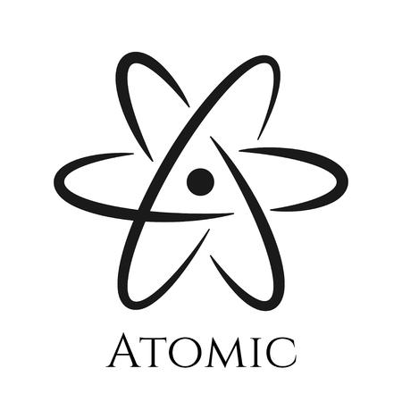 Icône de signe d'atome. Symbole scientifique isolé pour la conception Vecteurs