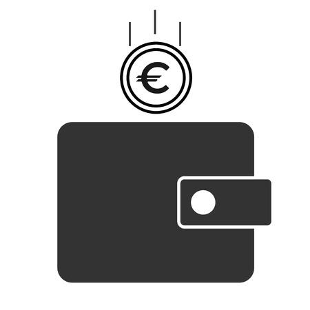Ilustración de vector de icono de billetera para diseño
