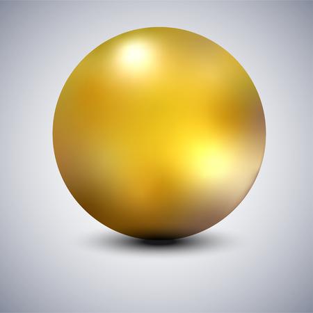 Realistic gold metal sphere, vector golden ball isolated Standard-Bild - 124736062
