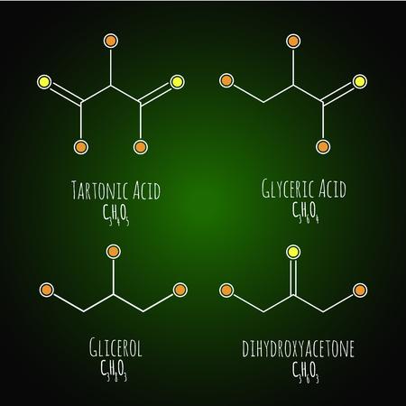 Glycerol structural chemical formula. Vector illustration
