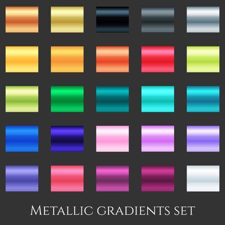 Creative vector illustration of gradient collection. Art design background texture.