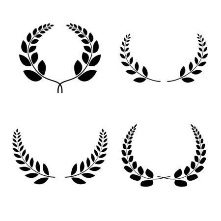 Laurel Wreath symbol collection. Vector design elements.