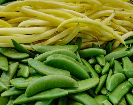 background image with mix of yellow and green beans