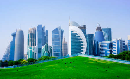 background image of qatar capital city capital city Stock fotó - 150595238