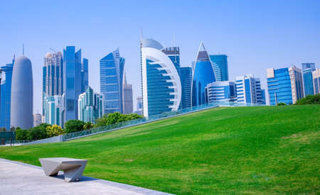 background image of qatar capital city capital city Stock fotó - 150595305