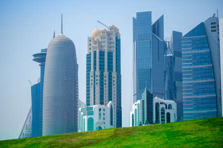 background image of qatar capital city capital city Stock fotó - 150592660