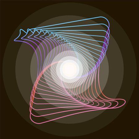 Birth of a star, formation. Иллюстрация