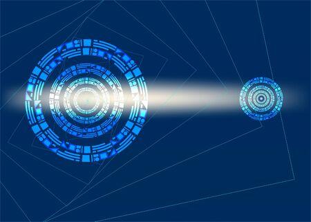 Portal intergalactic on a dark blue background