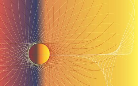 Abstract background of yellow and orange colors for space themes