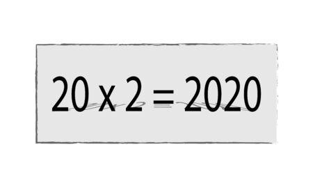 twenty times two equals 2020 new year arithmetic Çizim