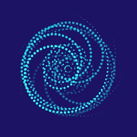 spirals of blue circles on a dark blue background Фото со стока - 139286837