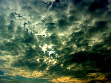Moody overcast stormy Sky Stock Photo
