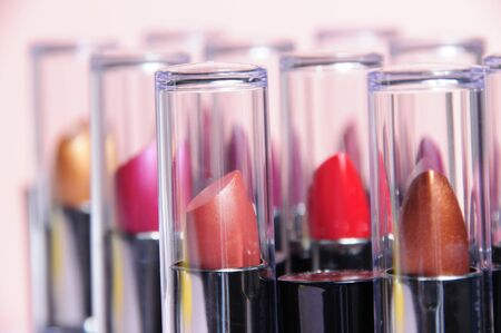 Closeup of colorful lipstick