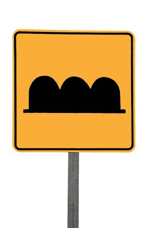 Topes, speedbumps sign on white background Stock Photo - 11981088