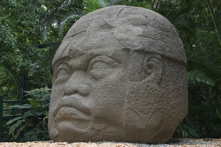 Colossal Olmec head Stock Photo - 11988669