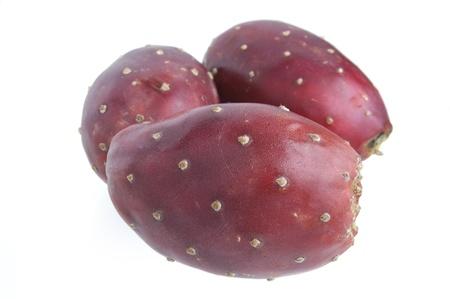 les pommes de cactus isol� sur fond blanc