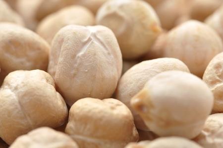 garbanzo bean: Macro closeup of garbanzo bean in pile