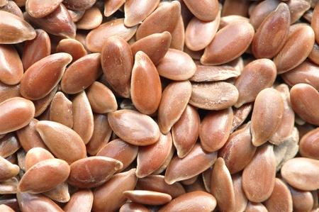 usitatissimum: Closeup of pile of raw flax seed