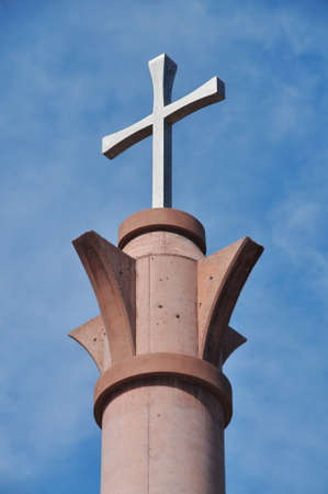 Beautiful Christian cross on top of Cathedral in Tijuana, Mexico Stock Photo - 12710059