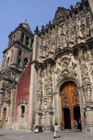 tabernacle: Entrance to tabernacle of Cathedral of the Assumption of Mary of Mexico City