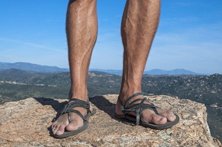 pies masculinos: Primer plano del hombre