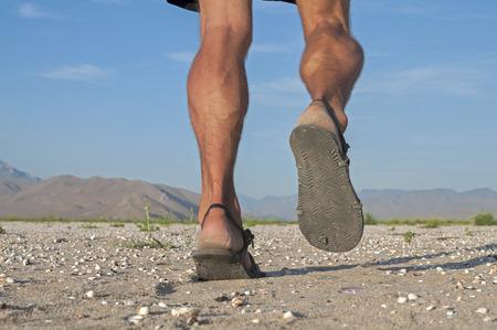 Close-up van de mens benen