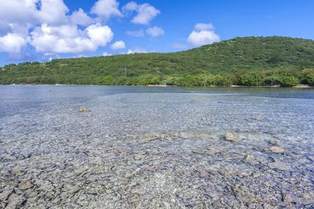 linda: Shallow rocky bay of Bahia LInda on beautiful tropical Caribbean island of Culebra in Puerto Rico