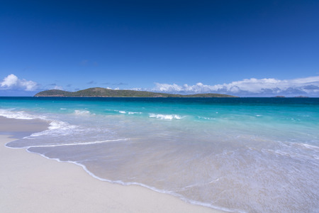 Cayo Norte on a beautiful clear day as seen from sandy Zoni Beach on Isla Culebra, Puerto Rico